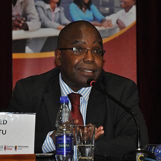 Wilfred Nderitu, the ICC legal representative for victims, speaking at IWPR's seminar in Nairobi on May 24. (Photo: Muthoni Njuki)