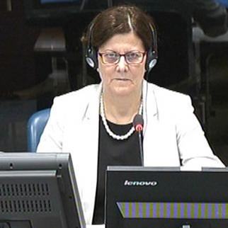 Polish demographer Ewa Tabeau giving evidence in the Mladic trial at the ICTY. (Photo: ICTY)