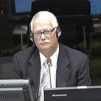 John Russell, defence witness in the Mladic trial. (Photo: ICTY)