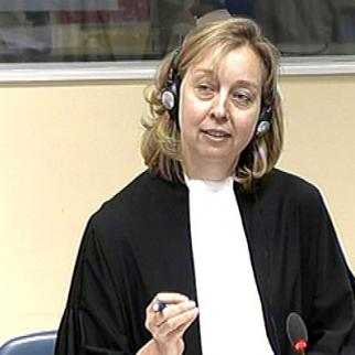 Michelle Jarvis, prossecutor at the Jovica Stanisic and Franko Simatovic trial at he ICTY. (Photo: ICTY)