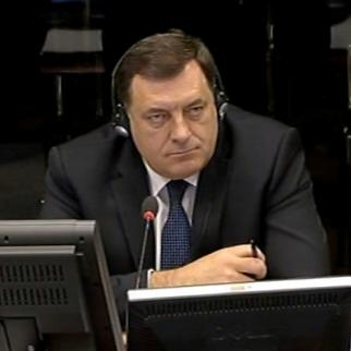 Milorad Dodik, defence witness in the trial of Ratko Mladic at the ICTY. (Photo: ICTY)