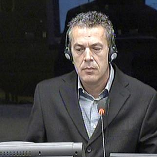 Mladen Blagojevic, defence witness in the trial of Ratko Mladic. (Photo: ICTY)