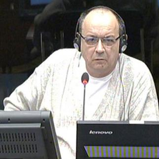 Nebojsa Jeremic, defence witness in the Mladic trial at the ICTY. (Photo: ICTY)
