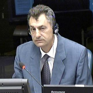 Savo Simic, defence witness in the Ratko Mladic trial at the ICTY. (Photo: ICTY)