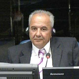 Stevan Veljovic, defence witness in the Mladic trial at the ICTY. (Photo: ICTY)