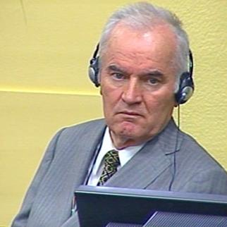 Ratko Mladic in the ICTY courtroom. (Photo: ICTY)