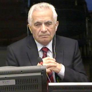 Momcilo Krajisnik, defence witness in the Karadzic trial. (Photo: ICTY)