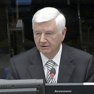 Prvoslav Davinic, defence witness in the Radovan Karadzic trial. (Photo: ICTY)