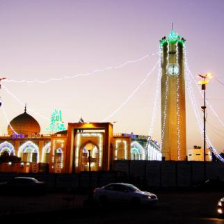 Adhamiya now – bright lights reflect the revival in this Baghdad district's fortunes. (Photo: Saif al-Qaysi)