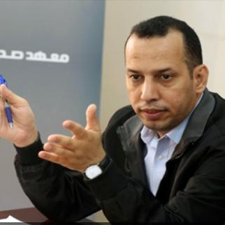 Hisham Al Hashimi, pictured here during IWPR Iraq training in 2016. (Photo: IWPR