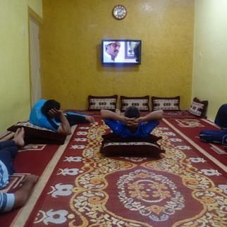 "Iraqis watching the Kuwaiti Drama ""Saher al-Layl"". Basra, July 2012. (Photo: Abu Iraq)"