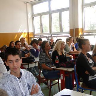 Film screening followed by a discussion in Brčko. (Photo: Velma Šarić)