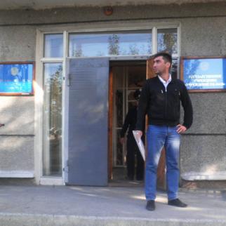 Prison rights activist Vadim Kuramshin outside a penal institution near Granitny in Akmola region, scene of a riot in August. (Photo: Vadim Kuramshin)