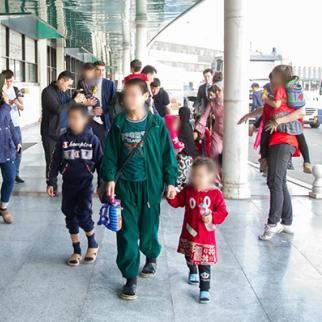 Children being returned from the middle east to Kazakstan. (Photo courtesy of the Ministry of Foreign Affairs, Republic of Kazakhstan)