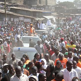 CORD supporters gather at a by-election rally in Nairobi on July 29, 2014. (Photo: Capital FM)