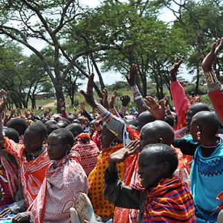 More than two thousand members of the ethnic Maasai community gathered in Kajiado to protest against Kenyan laws criminalising female genital mutilation. (Photo: Muthoni Njuki/Capital FM)