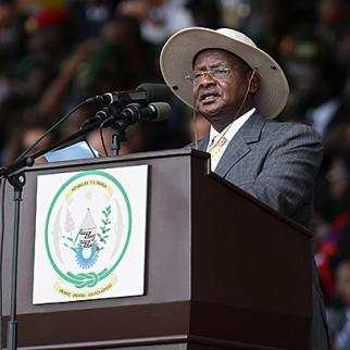 President Yoweri Museveni signed Uganda's Anti-Homosexuality Act in February 2014. (Photo: Chip Somodevilla, Getty Images)
