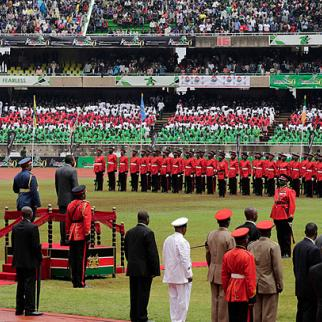 Kenya Independence Day celebrations. Despite President Uhuru Kenyatta's comments, critics say a series of new laws generated by government is designed to curtail freedoms, not increase them. (Photo: Sudath Silva, courtesy of President Rajapaksa)