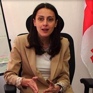 Khatia Dekanoidze, the new head of Georgia's school exam board. (Photo: Robert Churgulia)