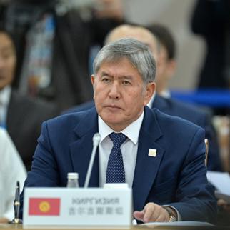 President of the Kyrgyz Republic Almazbek Atambaev. (Photo: Host Photo Agency/Ria Novosti via Getty Images)