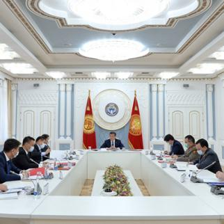 Security council session in Kyrgyzstan on coronavirus. (Photo: Kyrgyz President's press service)