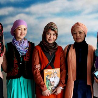 Journalists working for Umma, Kyrgyzstan's only Muslim affairs magazine. (Photo courtesy of UMMA magazine)