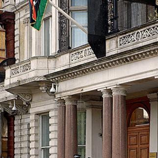 Libyan embassy London, autumn 2011. (Photo: Gordon2208/Flickr)