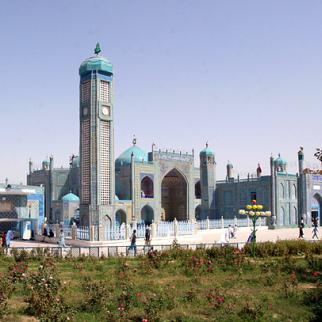 The Hazrat e-Ali mosque complex in the northern town of Mazar e-Sharif. (Photo: ISAF Public Affairs Photo)