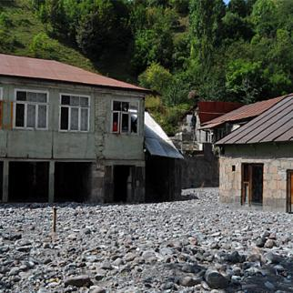 Village of Mleta was badly damaged by flood waters earlier this year – but residents are still waiting to be resettled. (Photo: Tea Topuria)