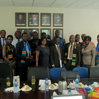 Rwanda Media Commission members with their counterparts in Ghana. (Photo: IWPR)
