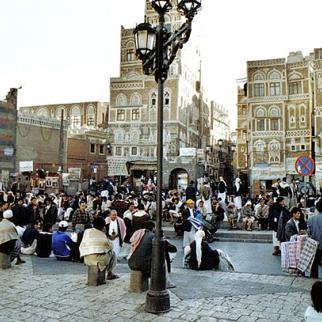 View of central Sanaa. Picture taken 2007. (Photo: Fabian Pfeiffer/Flickr)