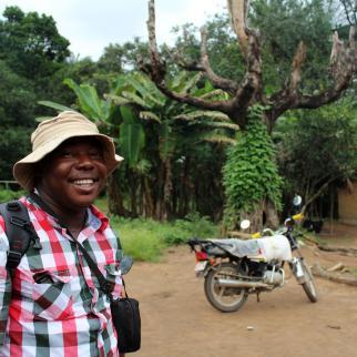 Sierra Leonean investigative reporter Silas Gbandia.