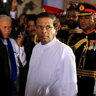 Maithripala Sirisena on January 9, a day after he was elected Sri Lankan president. (Photo: Buddhika Weerasinghe/Getty Images)