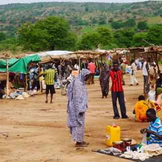 The market in Gidel, in the Nuba Mountains of Sudan. Picture from 2012.