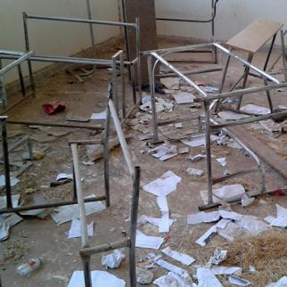 Classrooms have been left empty by the teacher shortage. (Photo: Shafan Ibrahim)