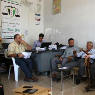 Members of an FSLA documentation centre at work. (Photo: Sonia al-Ali)