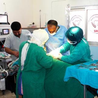 The surgical hospital in al-Sham set up by the Syria Relief and Development organisation. (Photo: Obeida al-Taraf)