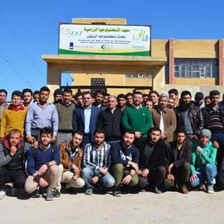 In front of the Agricultural Technology Institute. (Photo: Sonia al-Ali)
