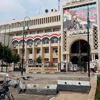 Idlib province police headquarters after the opposition took control of it. (Photo: Obada al-Ansari)