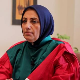 Rafiaa Al Abidi was the first female judge in Benghazi. (Still from video by raedatlibya.net)