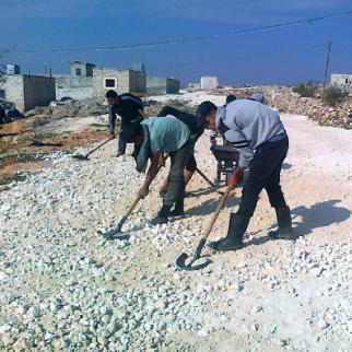 Development projects provide jobs for Syria's youth. (Photo: Ahmad al-Khatib)