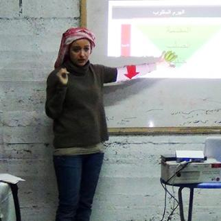 IWPR training session in Kafr Nabl, Syria. (Photo: IWPR)