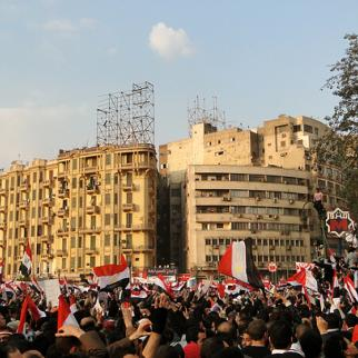 Protesters in Tahrir Square, Cairo. (Photo: Ramy Raoof/Flickr)