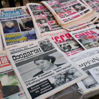Tajik media landscape is losing its diversity due to financial difficulties, political pressure and brain drain. (Photo: Radio Ozodi, RFE/RL Tajik Service)