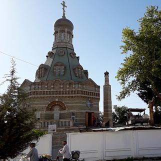 Orthodox Church in Bokhtar. (Photo: IWPR Central Asia)