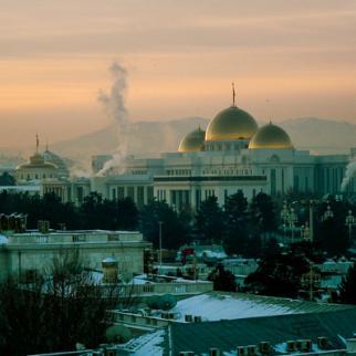 The presidential palace in Ashgabat, Turkmenistan. (Photo: Helen Stevenson)