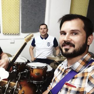 Krylya Origami band with Ashot Danielyan, on the right. (Photo courtesy of A. Danielyan)