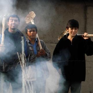 Uzbek labour migrants.