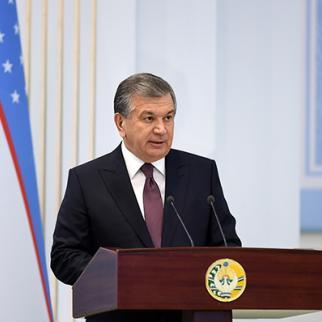 Uzbek president Shavkat Mirziyoyev. (Photo: Press Service of the Uzbek President)