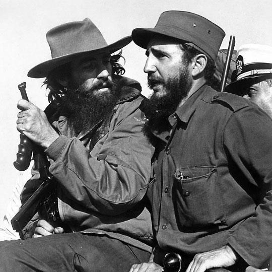 Fidel Castro and Camilo Cienfuegos in Havana, 8 January 1959.